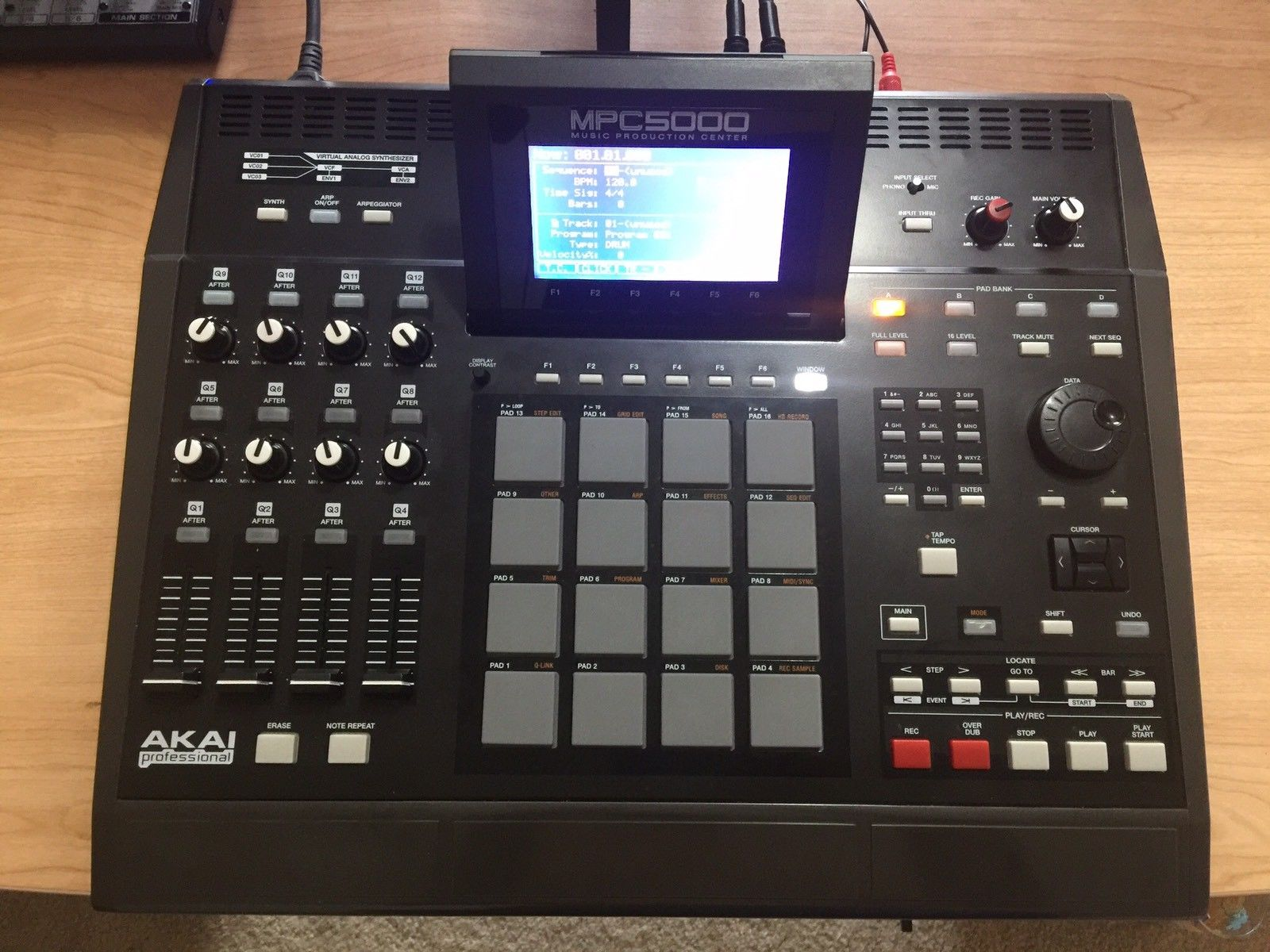 """""""This is a mint condition MPC 5000. Includes memory card, power supply and  is factory reset. I also have a nice soft case. It is homemade from an old  synth ..."""