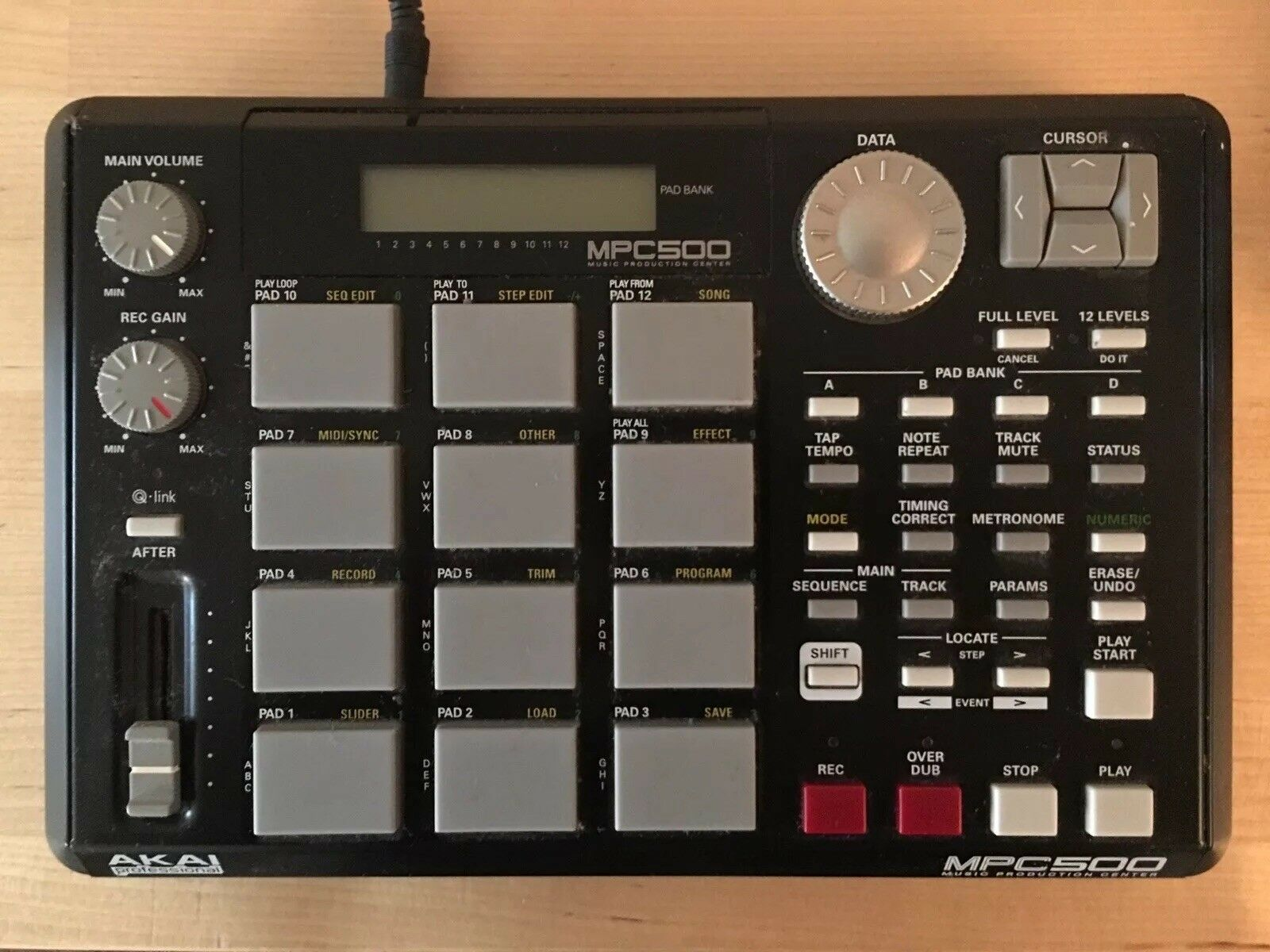 Akai S5000 Left Side Key Pad with button caps